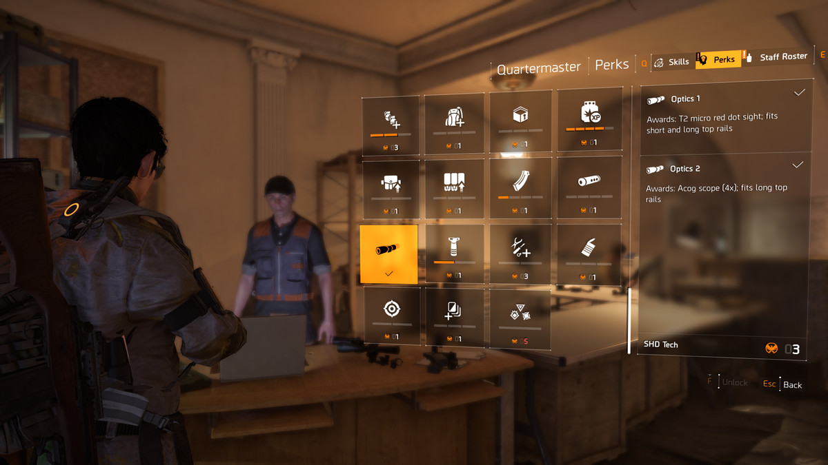 Looking at different perks in The Division 2