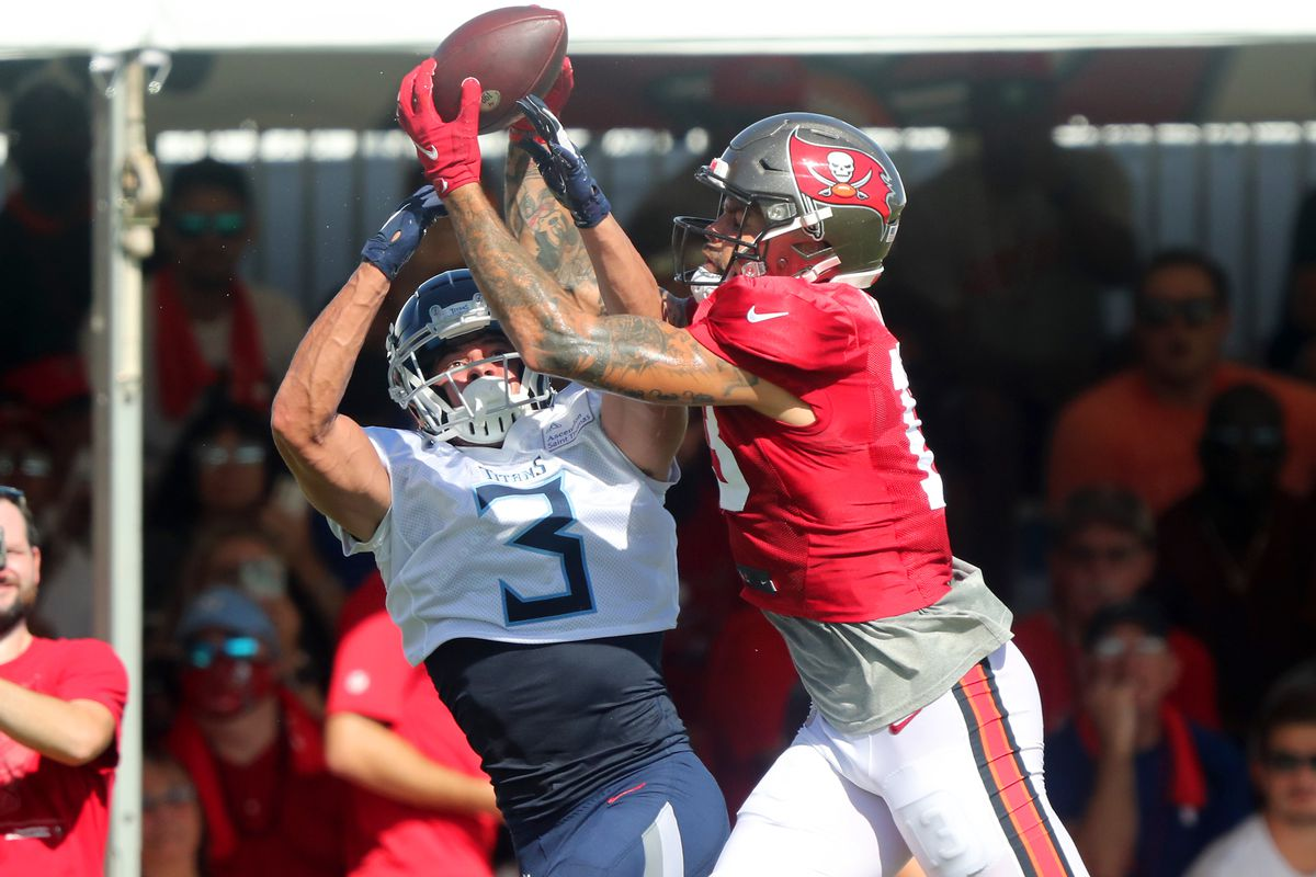 NFL: AUG 18 Buccaneers & Titans Joint Training Camp