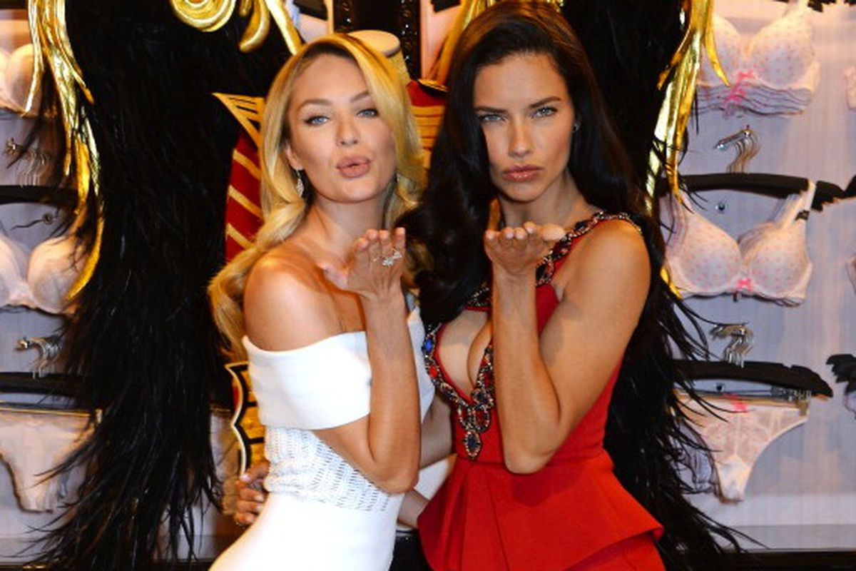 Angels Candice Swanepoel and Adriana Lima announce VS's move, via Getty