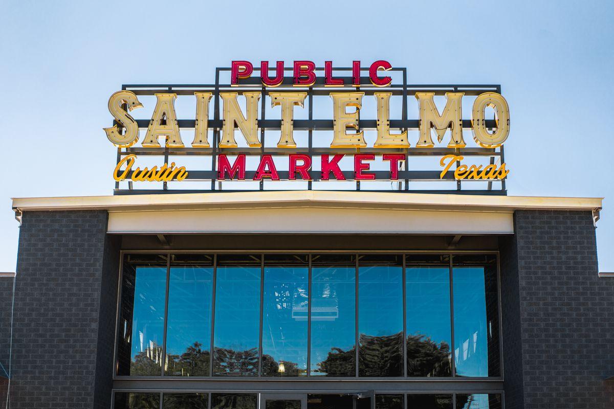 St. Elmo Public Market's sign
