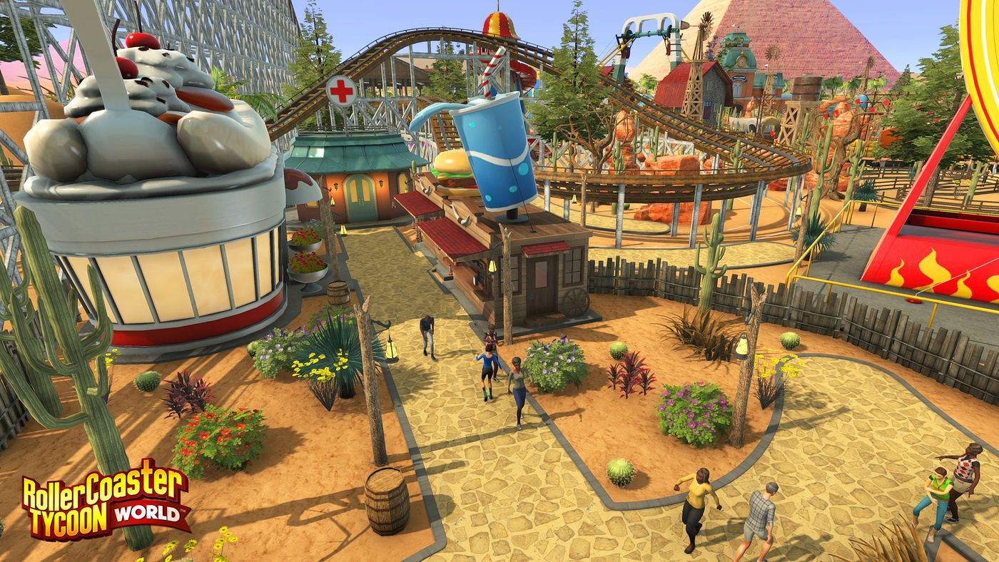 RollerCoaster Tycoon World's focus on freedom makes it
