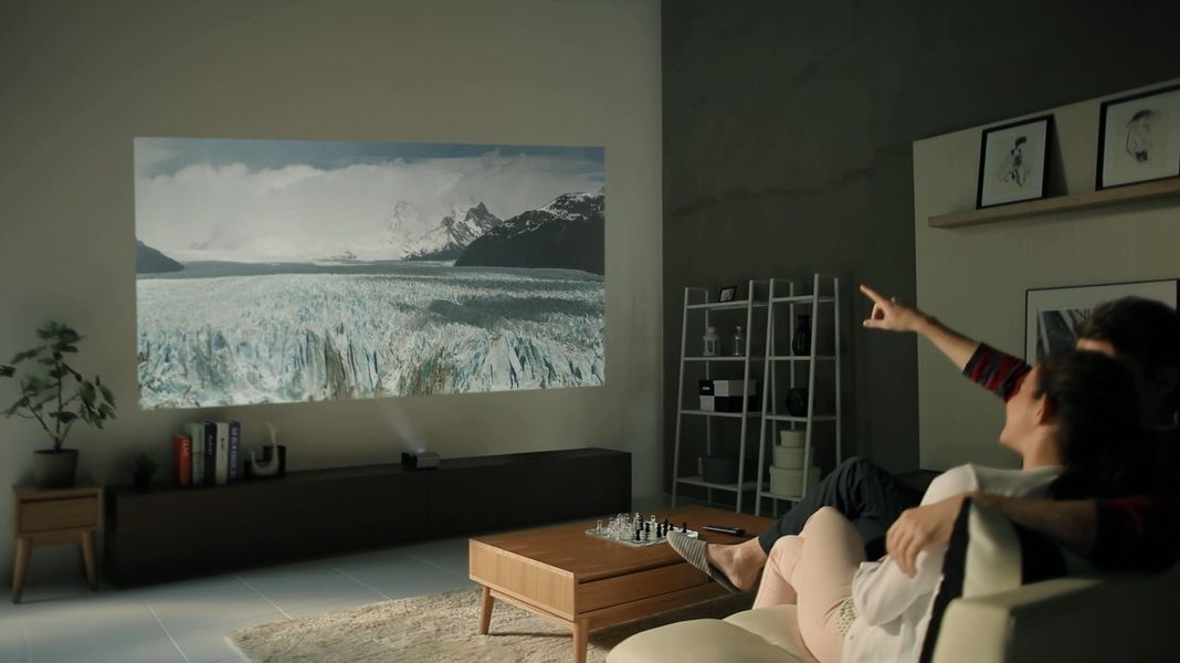 Lg S New Battery Powered Projector Can Produce An 80 Inch