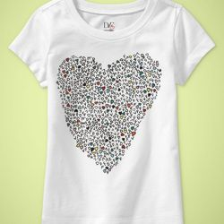 DVF Toddler Girl Graphic T-Shirt, Heart Icon $30