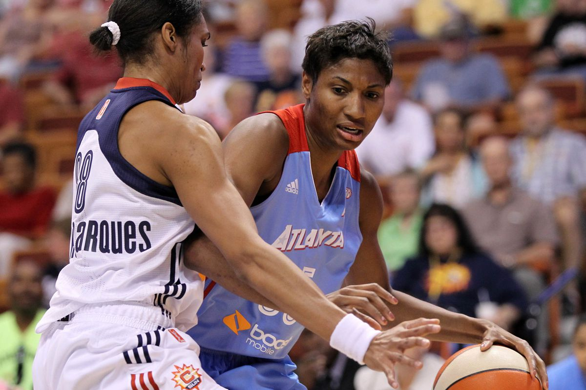 McCoughtry's fifth 30-point game against the Sun barely held off a massive fourth quarter comeback.