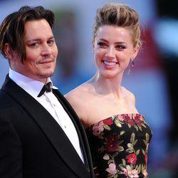 Johnny Depp and Amber Heard in Alexander McQueen