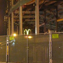 5:59 p.m. Golden arches visible through the ballpark -