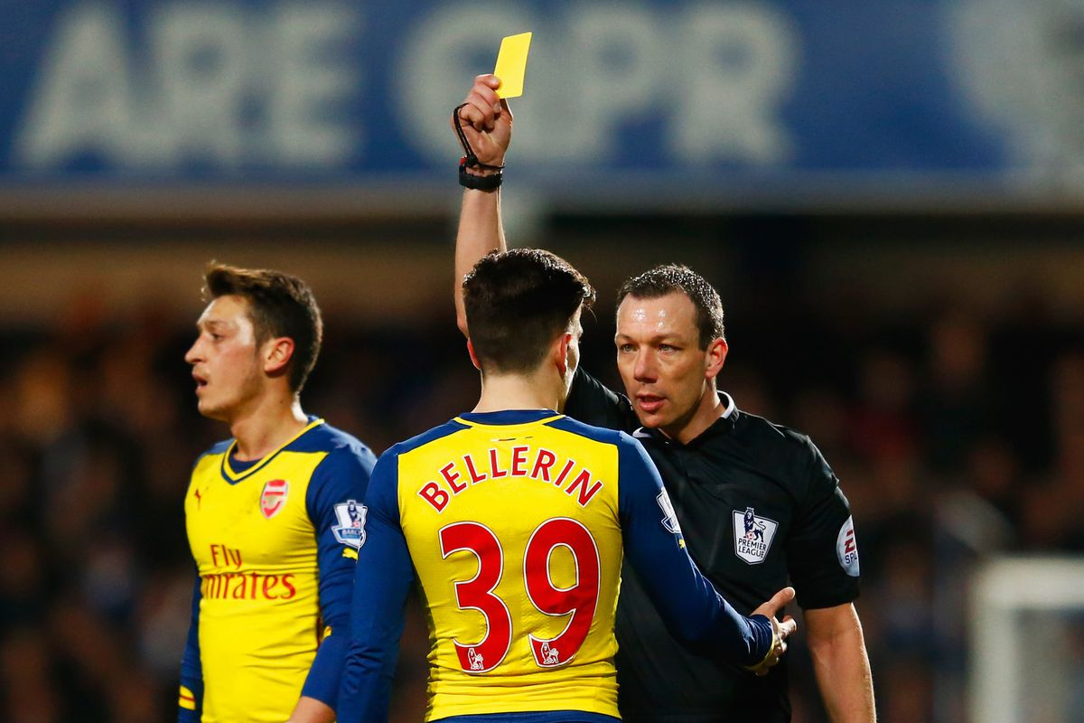 NOT PICTURED: a second yellow card
