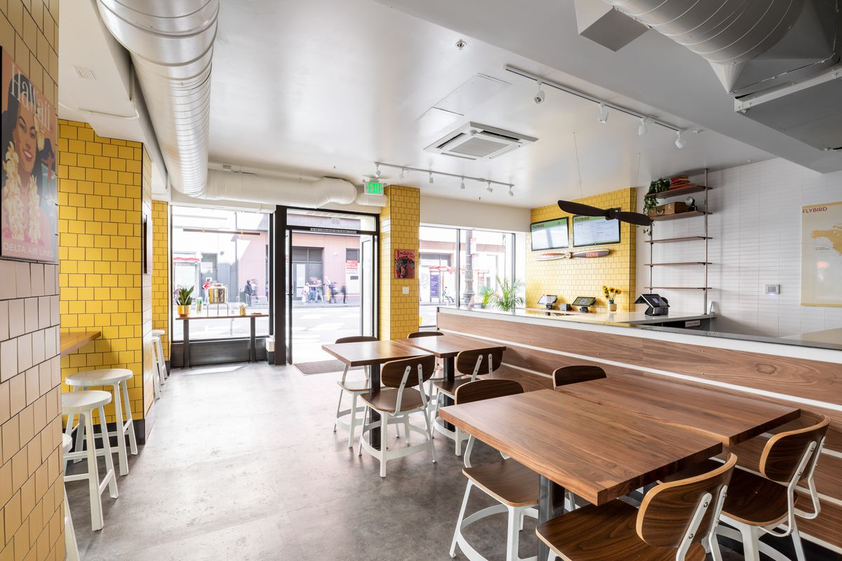 A look at the Flybird dining room