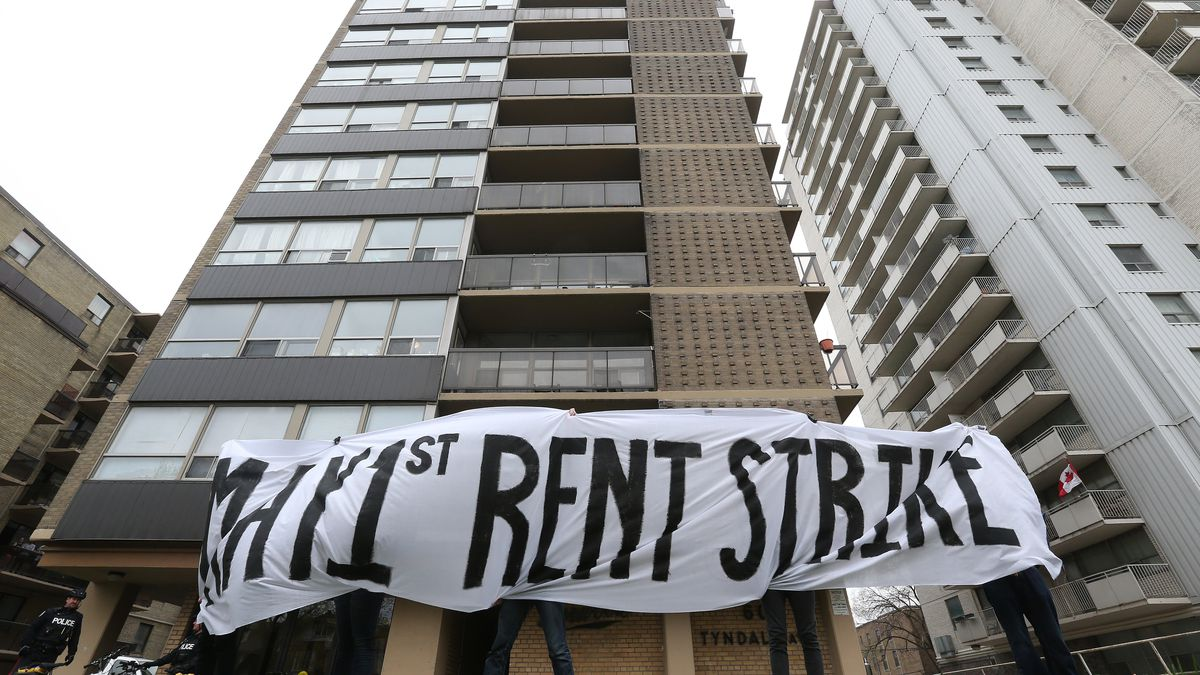 A resident rent strike in Canada.