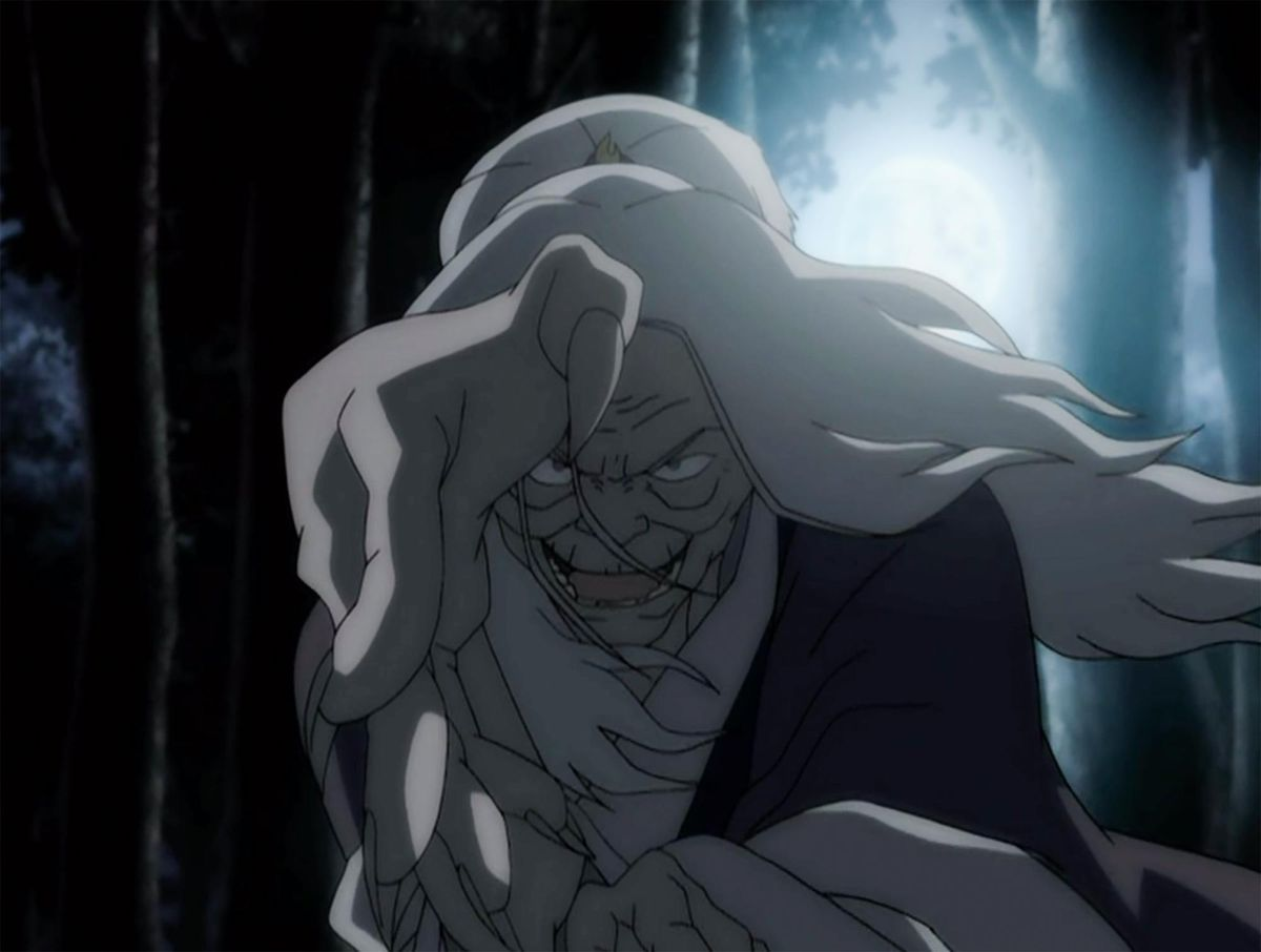 Hama using her bloodbending abilities in Avatar: The Last Airbender.