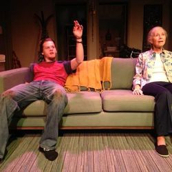 Austin Grant, left, stars as Leo and Joyce Cohen as Vera in Salt Lake Acting Company's 4000 Miles.