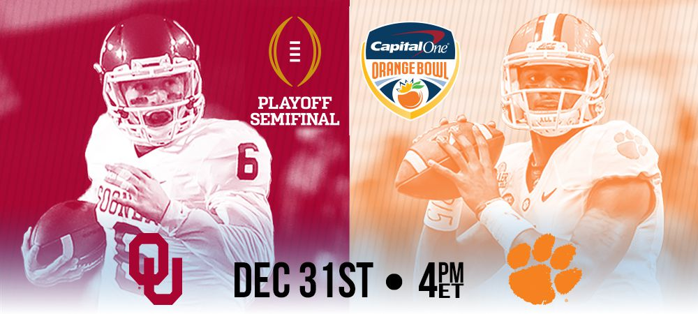 Clemson vs. Oklahoma (photo from: http://game.orangebowl.org/events/2015-college-football-playoff-at-the-capital-one-orange-bowl/)
