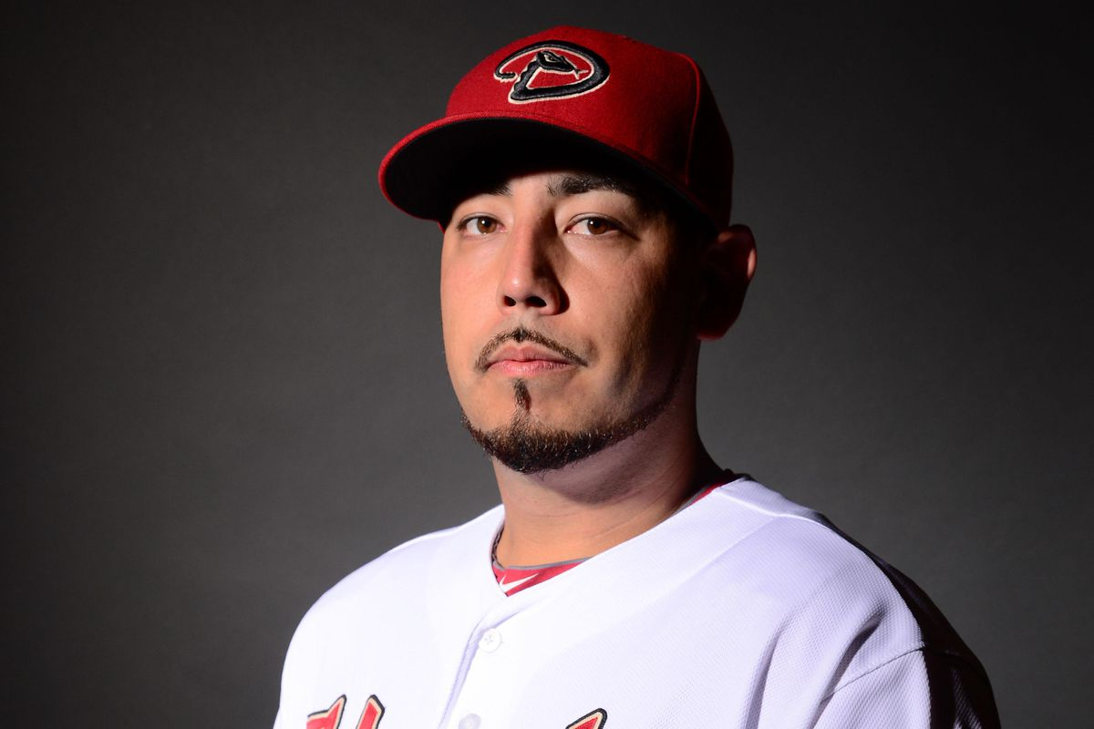 This is today's D'backs starter Vidal Nuno looking very serious