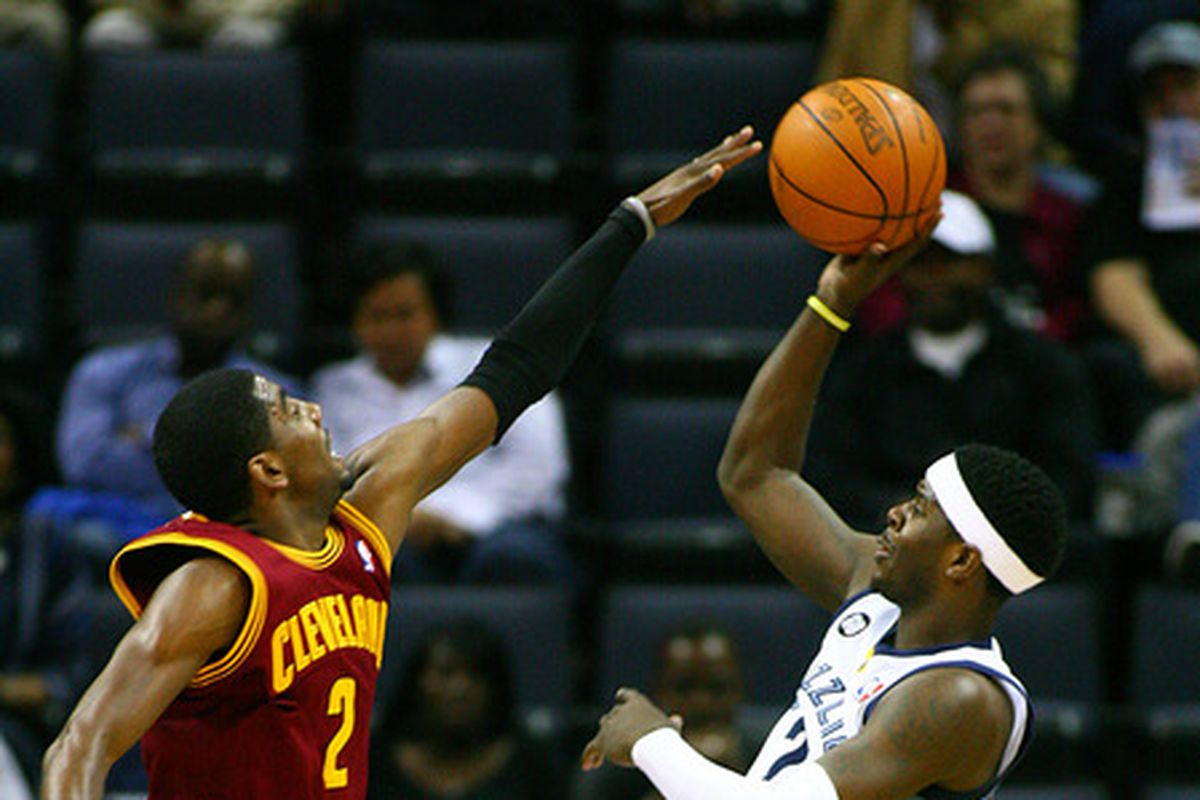 Josh Selby displaying his offensive skills over Kyrie Irving