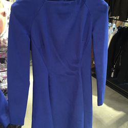 Long sleeve cobalt dress, $69 (was $1,495)