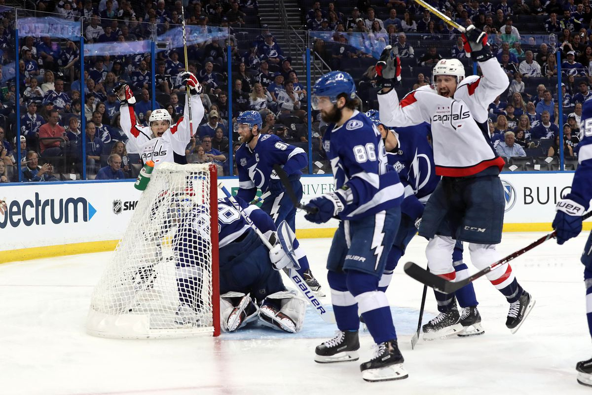 Washington Capitals take early control of series with a 4-2 win over the  Tampa Bay Lightning d200f2bdea7