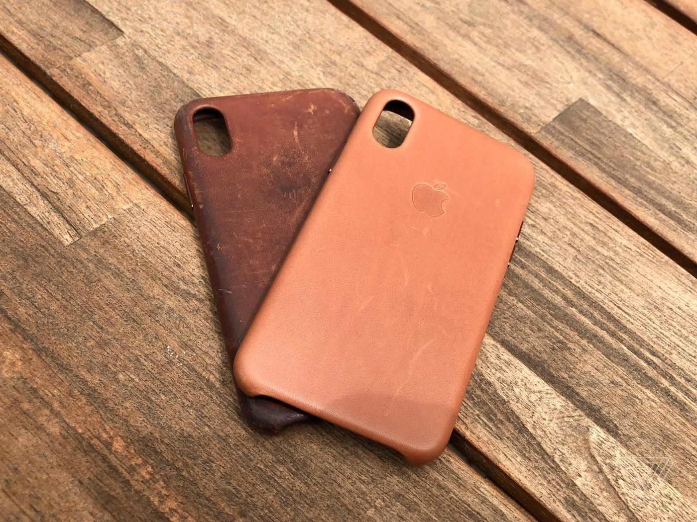 cb049164deed How to get a great patina on your iPhone X leather case - The Verge