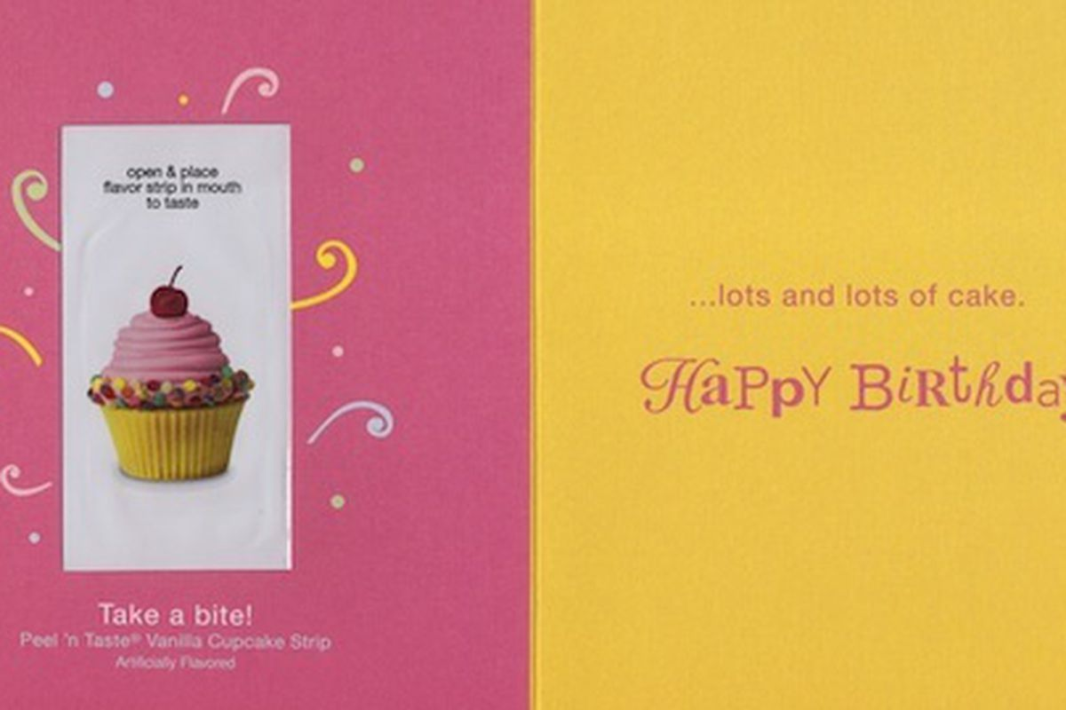 Peel And Lick Cupcake Flavored Greeting Cards Eater