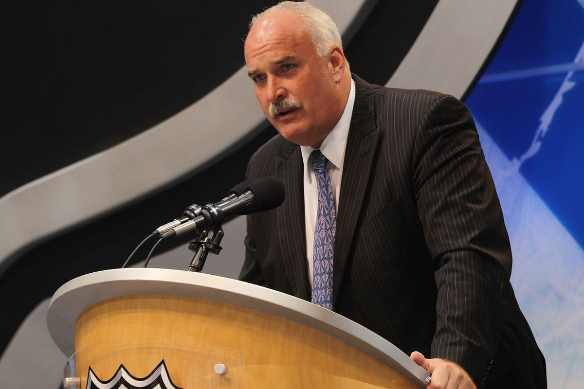 John Davidson at the 2010 NHL Draft in Los Angeles. (Getty Images)