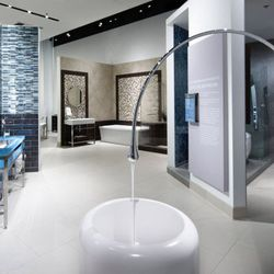 2. You can take a shower IN the store. Yes, Pirch is serious about its customers trying virtually everything it sells.