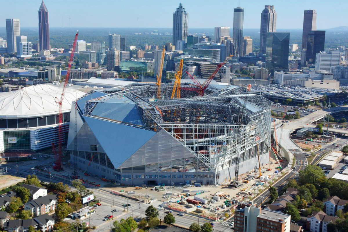 At atlanta falcons mercedes benz stadium extraordinary for Mercedes benz of atlanta parts