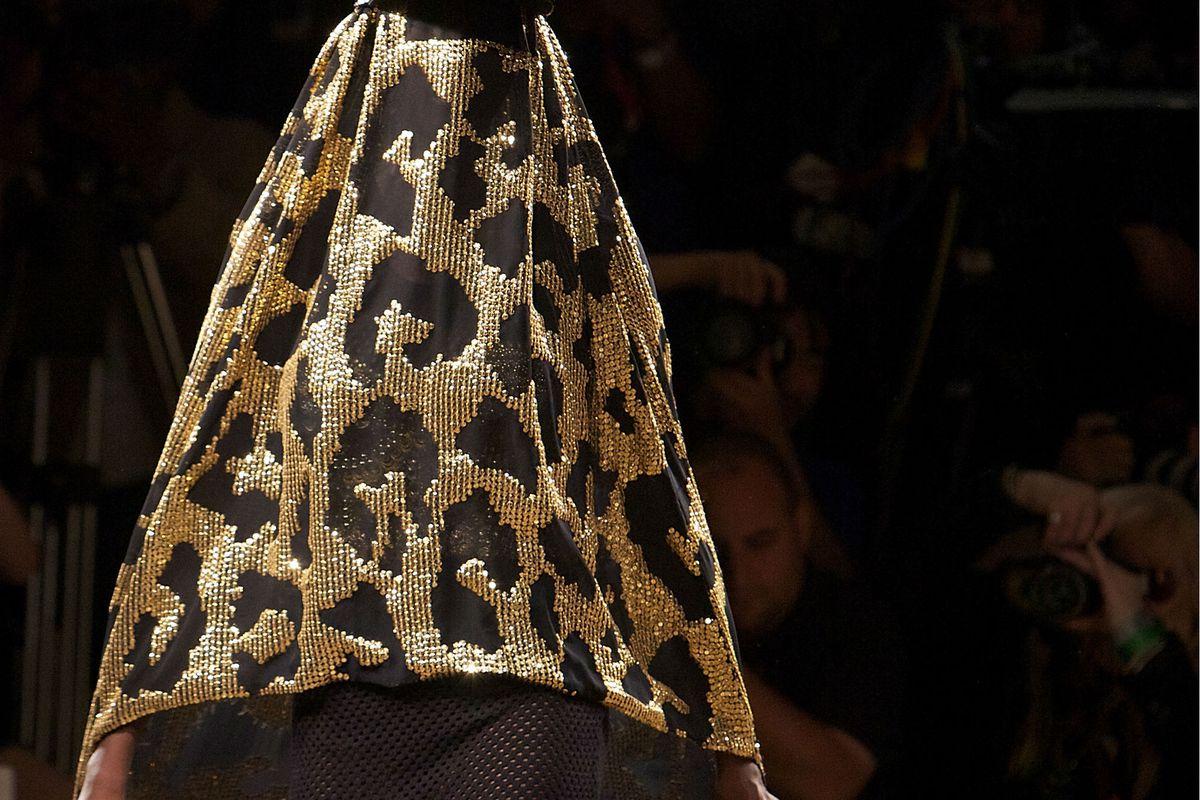 Yes, that is an animal-print burka. Photos via Getty.