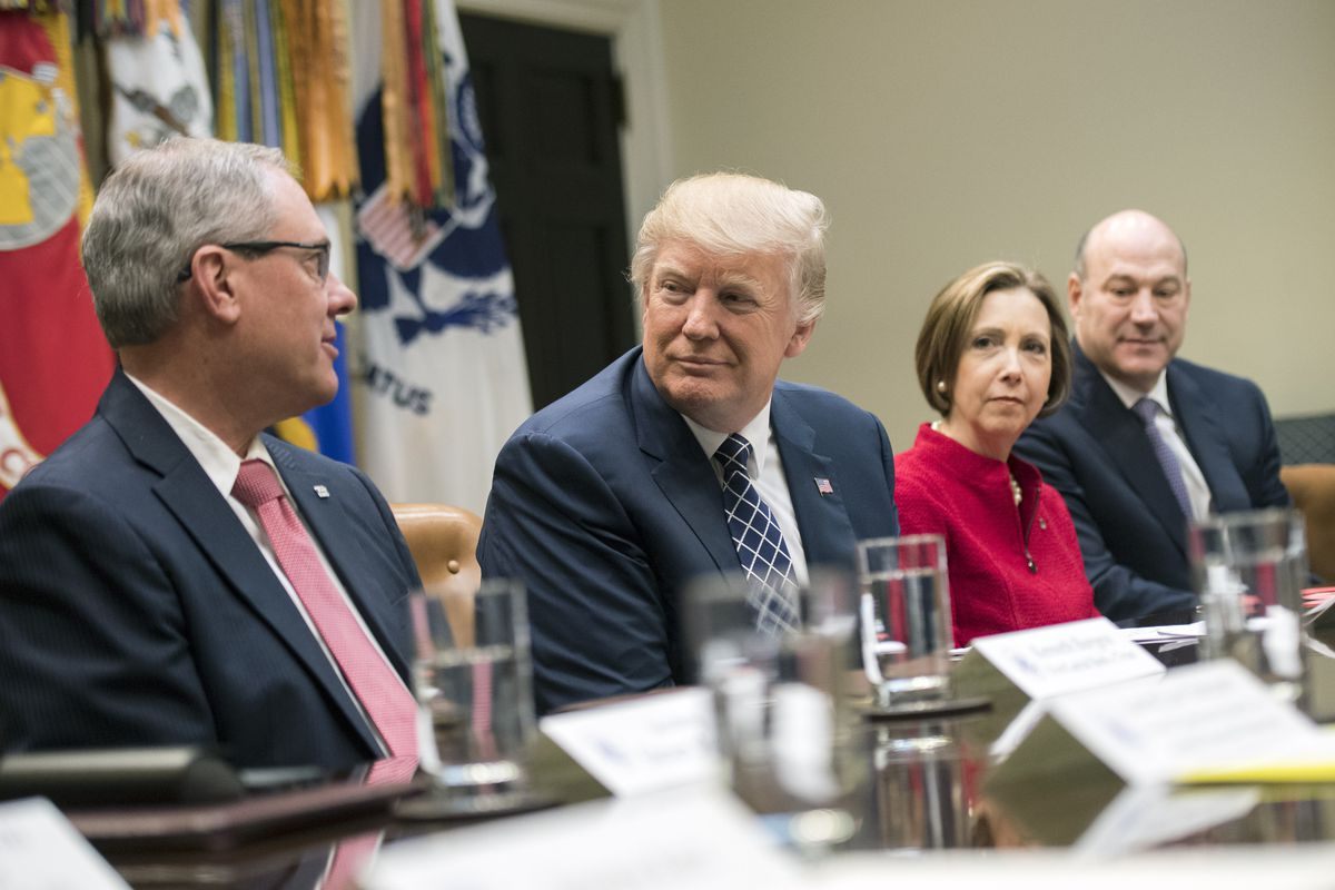 President Trump Meets with CEOs of Small and Comunity Banks at the White House
