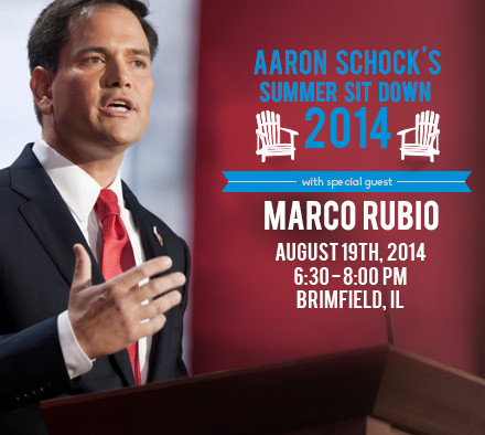 <small><strong>After a Chicago fundraising event, U.S. Sen. Marco Rubio, R-Fla., traveled to downstate Brimfield to be the star draw at an Aaron Schock fundraiser.</strong></small>