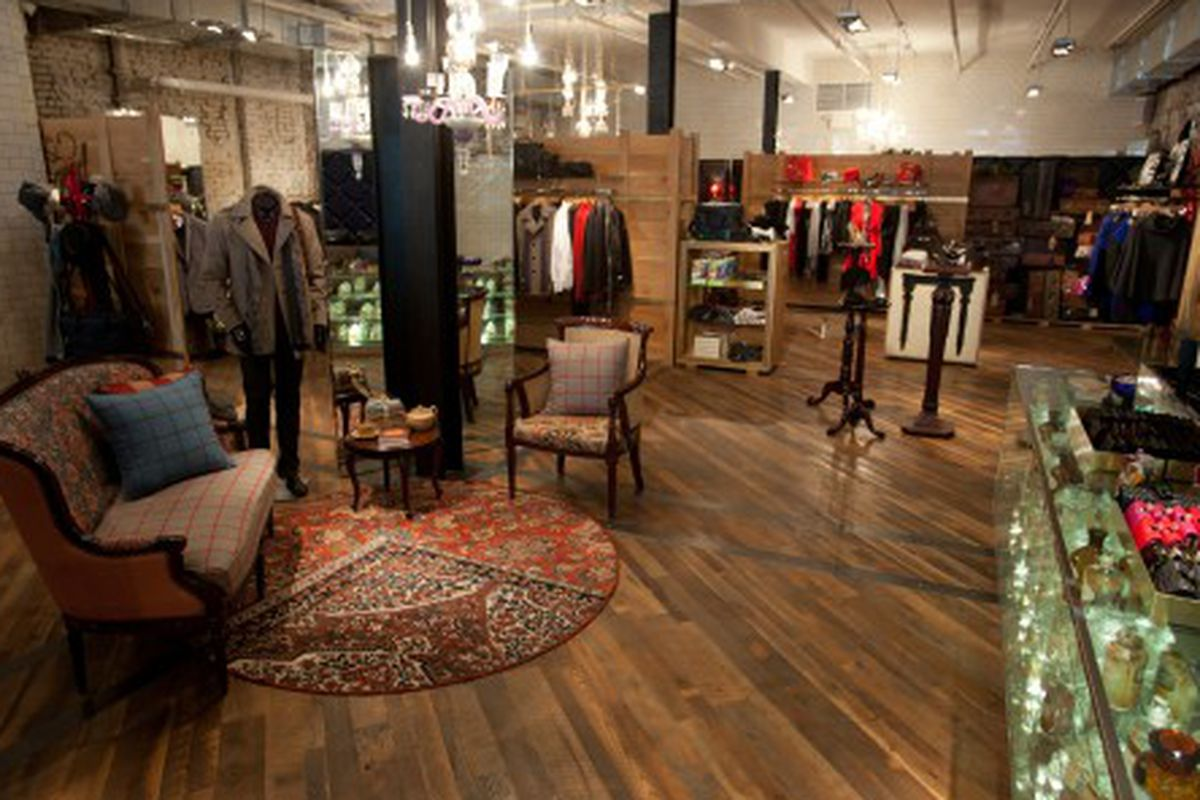Inside the Ted Baker store in Meatpacking. Photo credit: Matthew Peyton