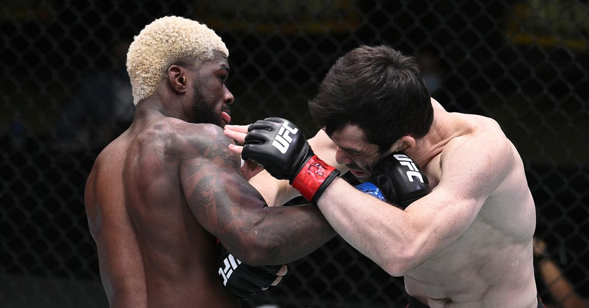 UFC on ESPN 15 video: Trevin Jones shocks Timur Valiev after taking early beating