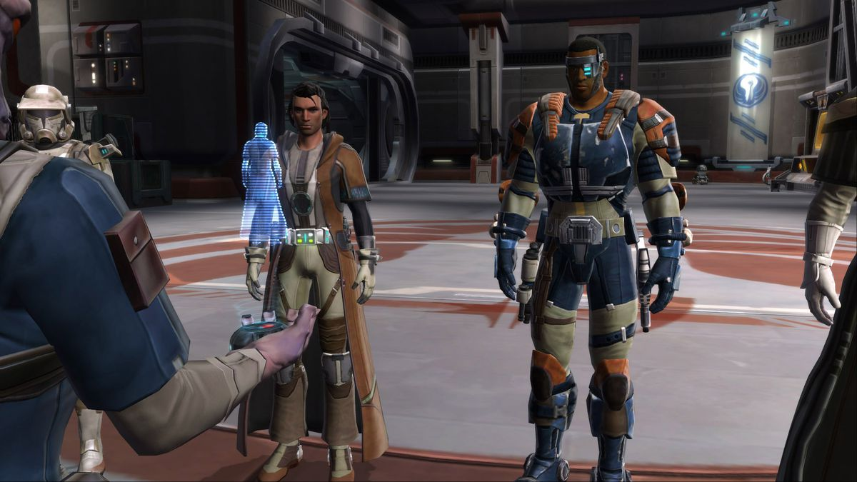 Star Wars: The Old Republic - Two players have a conversation with characters