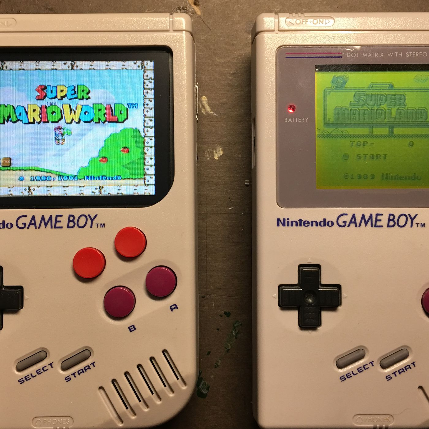 this hacked game boy hides a raspberry pi and hundreds of games