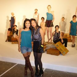 Designer Grace Sun (left, in Grace Sun) and her sister, Fox 5 Reporter Julie Chang (left, in a Grace Sun top)