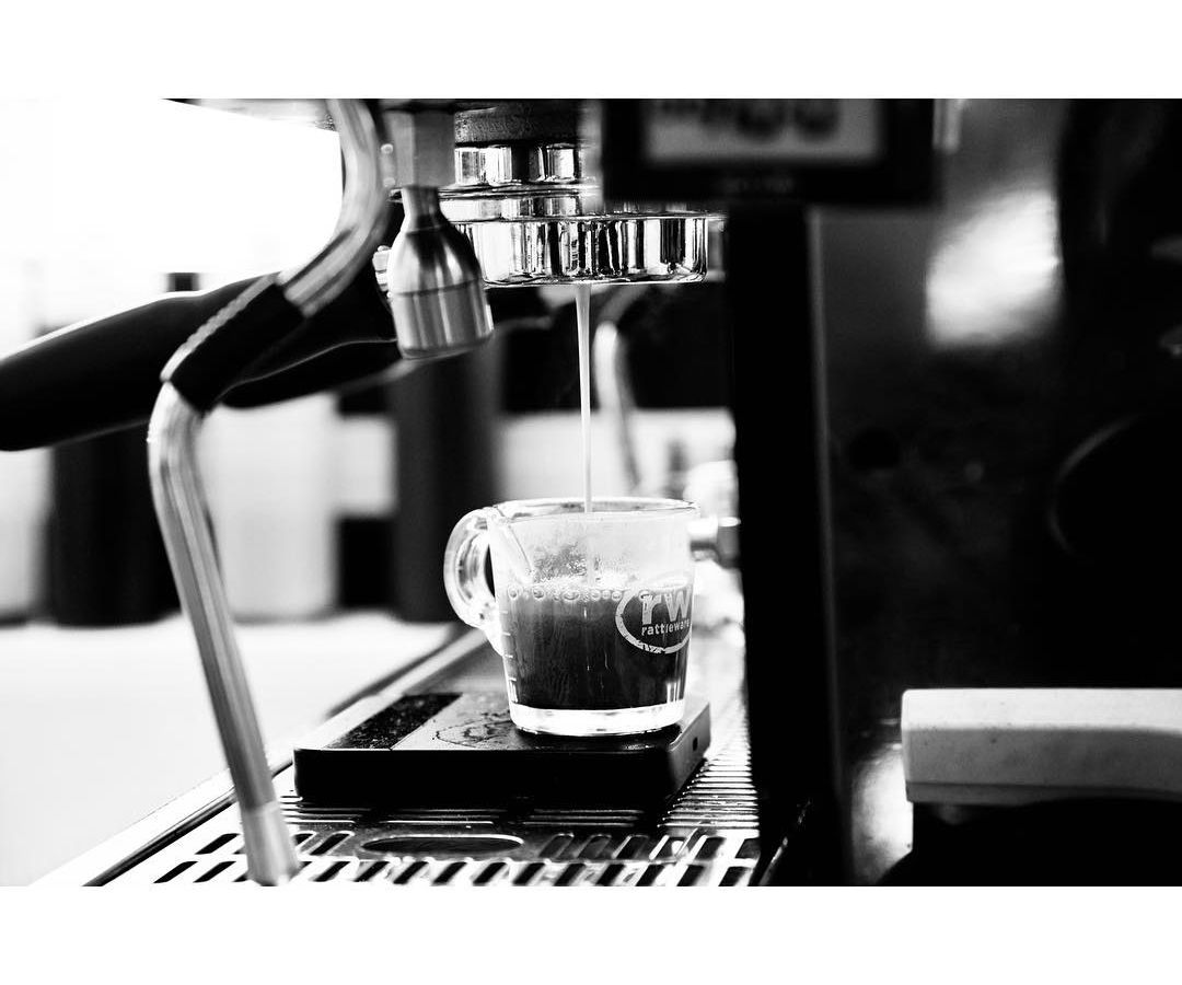 An espresso from Queen City Collective Coffee