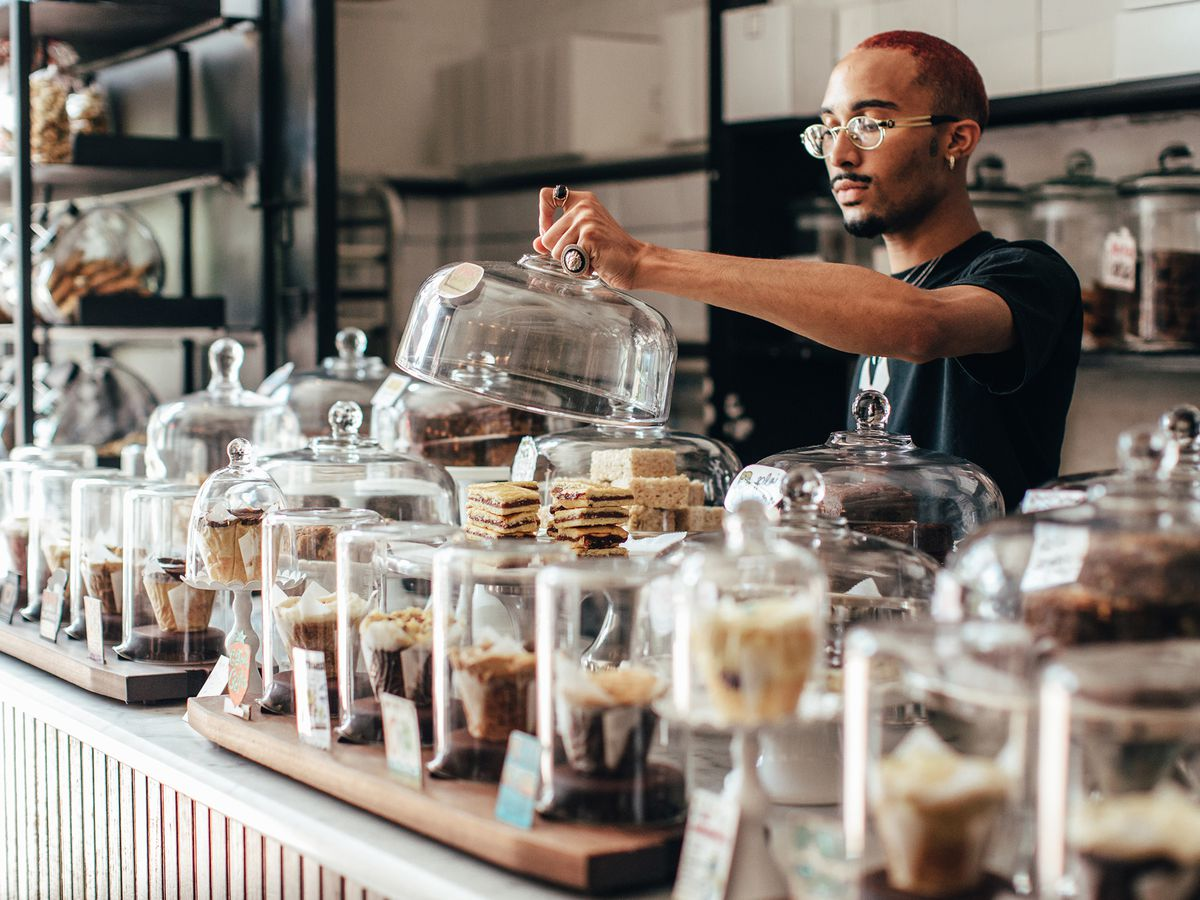 Treats in jars at Baked & Wired