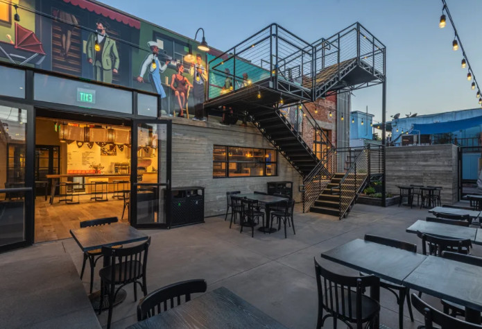 Citizen Public Market's outdoor dining area