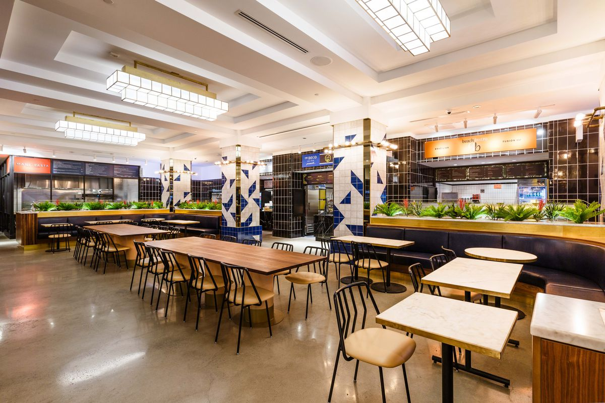 NYC Food Hall the Deco Opens in Midtown West in Manhattan - Eater NY