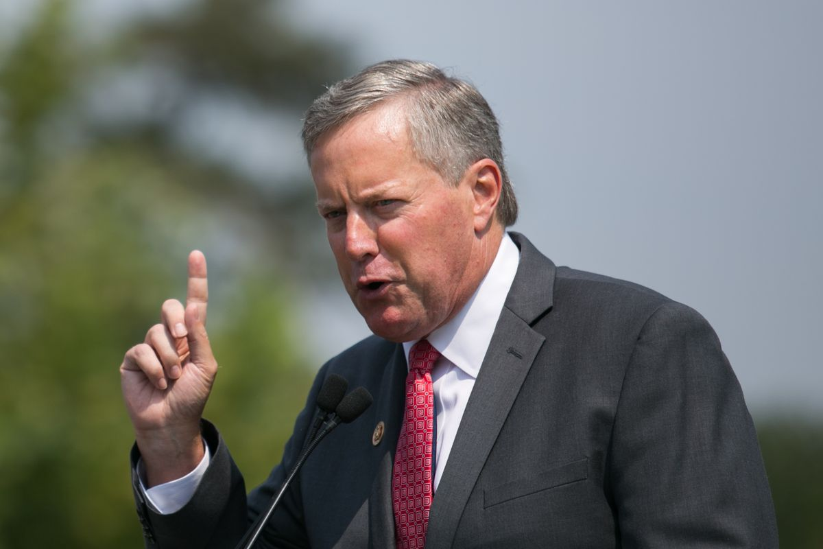 US Rep. Mark Meadows (R-NC) speaks during the Exempt America From Obamacare rally on Capitol Hill, September 10, 2013, in Washington, DC.