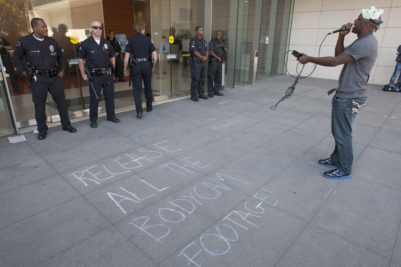LAPD body camera protest