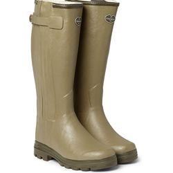 """<a href=""""http://www.mrporter.com/en-us/mens/le_chameau/chasseur-shearling-lined-wellington-boots/484827"""">Le Chameau wellington boots</a>, $400 <br>""""There are some days when the snow is so deep or has turned to gray slush of such deceptive depth that you"""