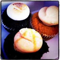 """s'mores, pumpkin spice & salted caramel cupcakes from Cupkate's by <a href=""""http://www.flickr.com/photos/karmacamilleeon/5199223169/in/pool-520531@N21/ """">karmacamilleeon</a><br /><br />"""