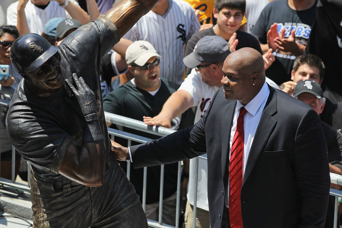 The greatest hitter in White Sox history got his statue this year. But what about the guy behind him?
