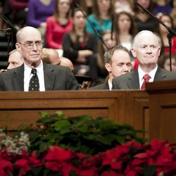 Dedication services for the new BYU-Idaho Center brought President Henry B. Eyring, Elder Russell M. Nelson, and Elder David A. Bednar to the Rexburg, Idaho campus on Dec. 17, 2010.