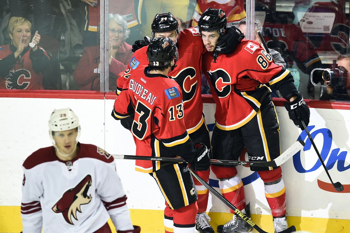 Gaudreau, Hudler, and Jooris really work well with one another.
