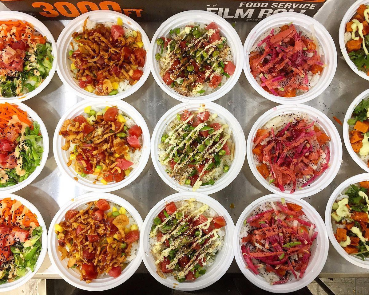 Nourish Cafe + Juice Bar lunch bowls at The Market at Cedar Point