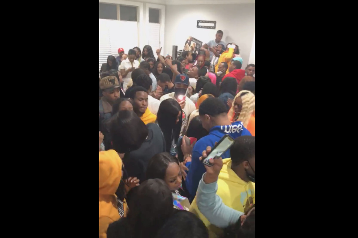A viral Facebook Live video on Saturday night captured a packed house party during the coronavirus pandemic.