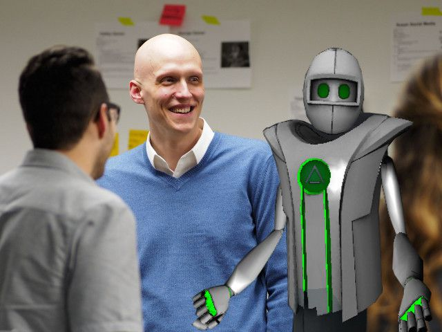 AltspaceVR CEO Eric Romo with his Altspace avatar