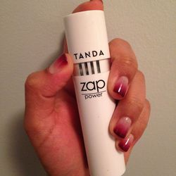 """I feel a breakout coming on. Time to use one of my favorite beauty gadgets of late, the <a href=""""http://www.tanda.com/zap.html"""">Tanda Zap</a>. It uses LED light technology (the same kind used at your dermatologist's office) to fight bacteria under the ski"""