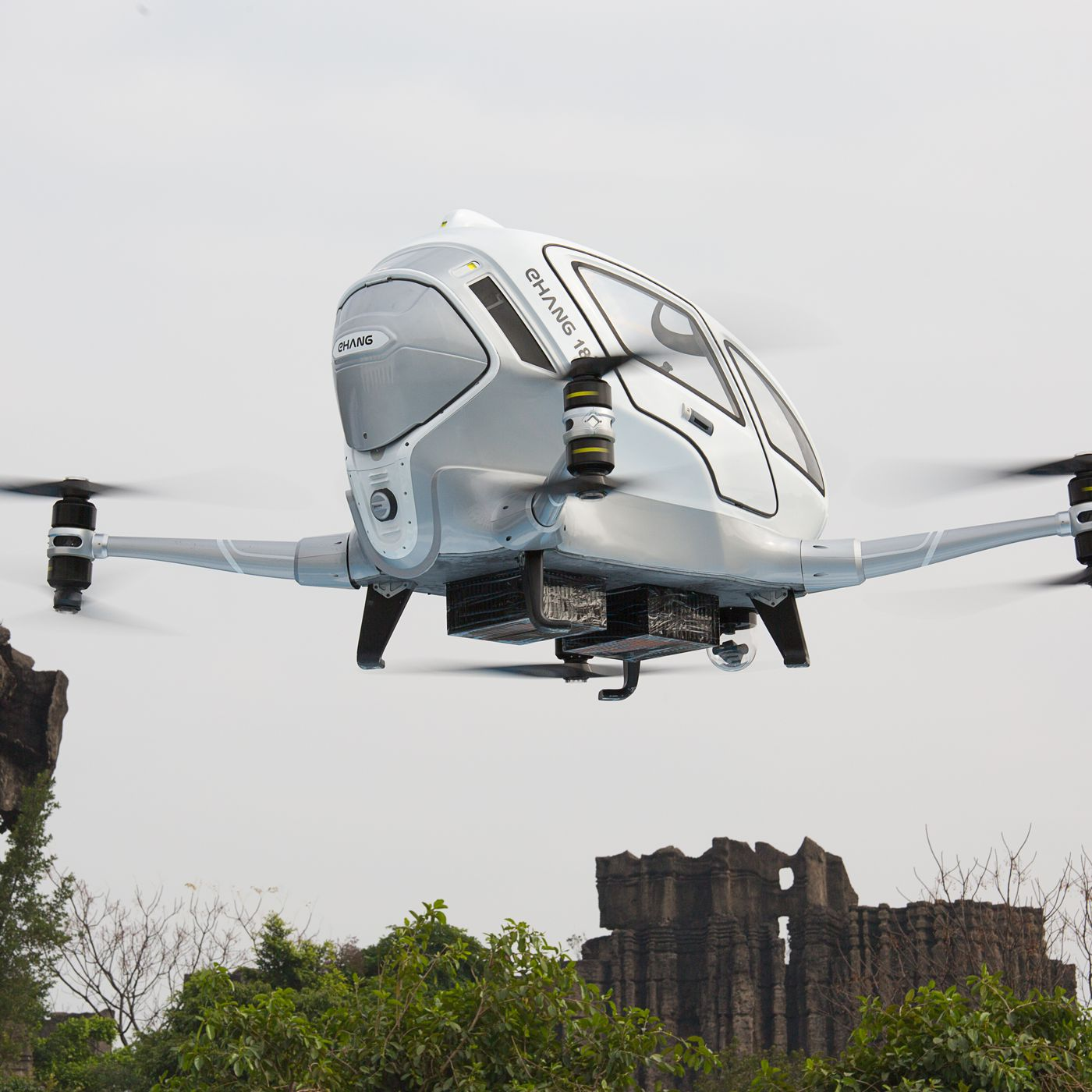 Ehang S Penger Carrying Drones Look Insanely Impressive In First Test Flights The Verge