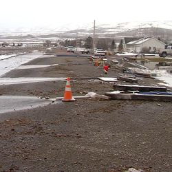 Garland Mayor Todd MIller says almost every house in the city has groundwater problems and almost every one of them is pumping out the water with their sump pumps. The situation is so bad he declared a state of emergency for the city in Box Elder County on Thursday, Feb. 23, 2017.